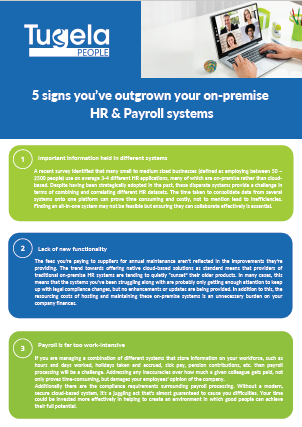 5 Signs you have outgrown your on-premise systems. Read more.