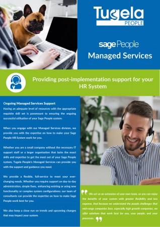 Managed Services support for Sage People. Read more.